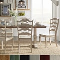 Eleanor Antique White Farmhouse Trestle Base French Ladder 5-piece Dining Set by TRIBECCA HOME