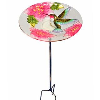 PeaktopFusion Glass Outdoor 11-inch Hummingbird Bird Feeder