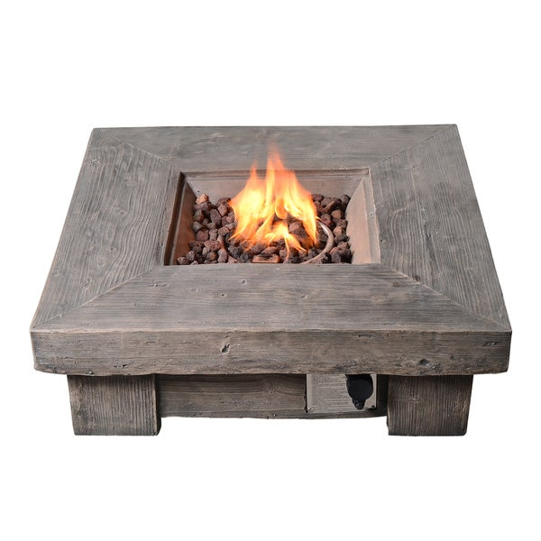 Shop Peaktop Wood Finished Outdoor Retro Square Propane