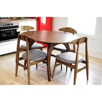 Haven Home Bradley Mid-Century Walnut Oval Dining Table - Brown