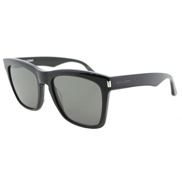 88969d857e9e Shop Saint Laurent SL 137 Devon 001 Black Plastic Square Sunglasses Grey  Lens - Free Shipping Today - Overstock - 14691589