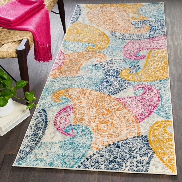 "Rhiey Paisley Hallway Rug - 2'7"" x 7'3"" Runner. Opens flyout."
