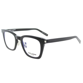 Saint Laurent SL 139 Slim 001 Black Plastic Square Eyeglasses 47mm
