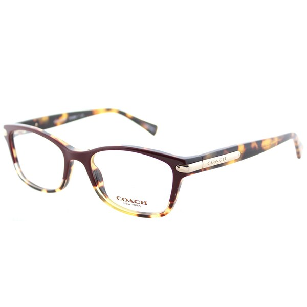 7de6b319ce81 Coach HC 6065 5437 Burgundy Tortoise Plastic Rectangle Eyeglasses 49mm