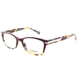 ef09550c6c8 Coach HC 6065 5437 Burgundy Tortoise Plastic Rectangle Eyeglasses 49mm