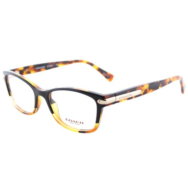 70faafc65e57 Coach HC 6065 5438 Black Tortoise Plastic Rectangle Eyeglasses 49mm