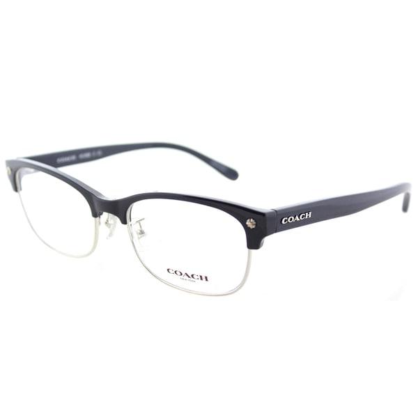 27fbeb771d2 Shop Coach HC 6098 5433 Navy Silver Plastic Cat-Eye Eyeglasses 53mm ...