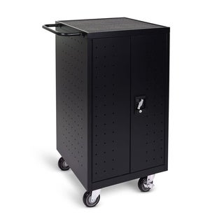 Offex Home Office Black Metal 18-laptop Computer Charging Cart