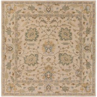 Hand-Tufted Merilis Wool Rug-(4' Square)