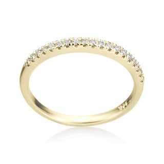 14k Yellow Gold by SummerRose 1/8ct TDW Diamond Wedding Band