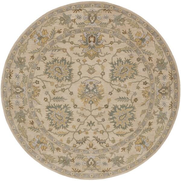 Hand-Tufted Merilis Wool Rug-(8' Round)