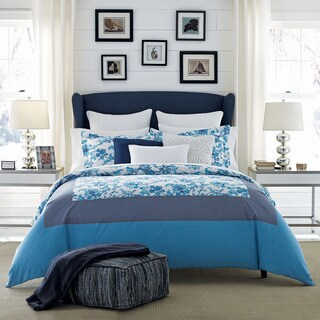 Tommy Hilfiger Camden Blue Floral Reversible Cotton Comforter Set