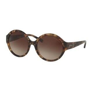Michael Kors Women's MK2035F 321013 55 Round Plastic Smoke Sunglasses