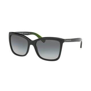 Michael Kors Women's MK2039 321611 54 Square Plastic Black Grey Sunglasses