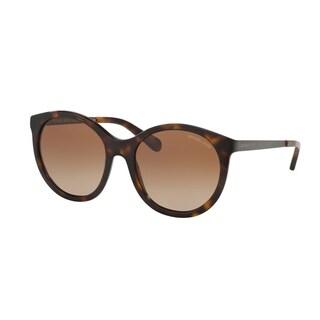 Michael Kors Women's MK2034F 320013 55 Round Metal Plastic Havana Brown Sunglasses