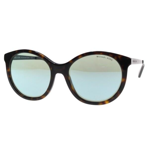 198ec56dfb Michael Kors Women  x27 s MK2034 320225 55 Round Metal Plastic Havana Blue  Sunglasses