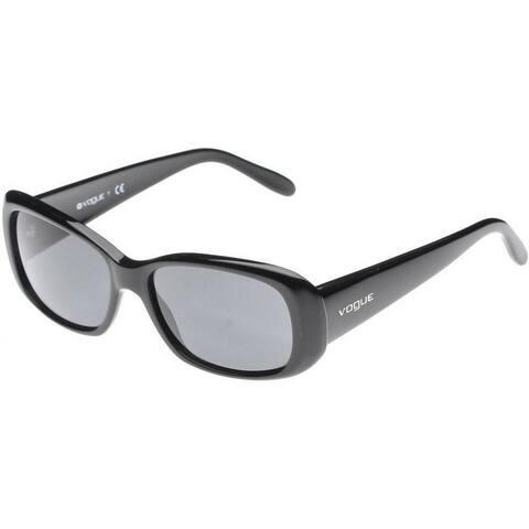 Vogue Women's VO2606S W44/87 55 Rectangle Plastic Black Grey Sunglasses