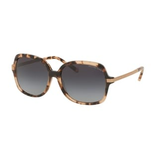 Michael Kors Women's MK2024F 316213 57 Square Metal Plastic Havana Grey Sunglasses