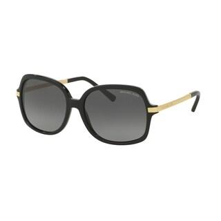 Michael Kors Women's MK2024 3160T3 57 Square Metal Plastic Black Grey Sunglasses