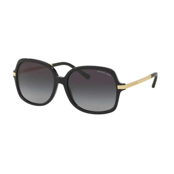 Michael Kors Women's MK2024 316011 57 Square Metal Plastic Black Grey Sunglasses