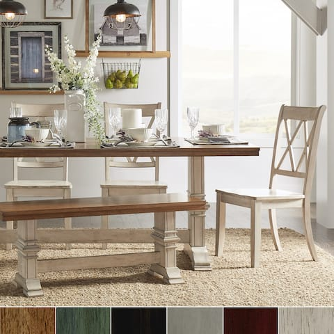 Eleanor Two-Tone Trestle Base 6-Piece Dining Set by iNSPIRE Q Classic