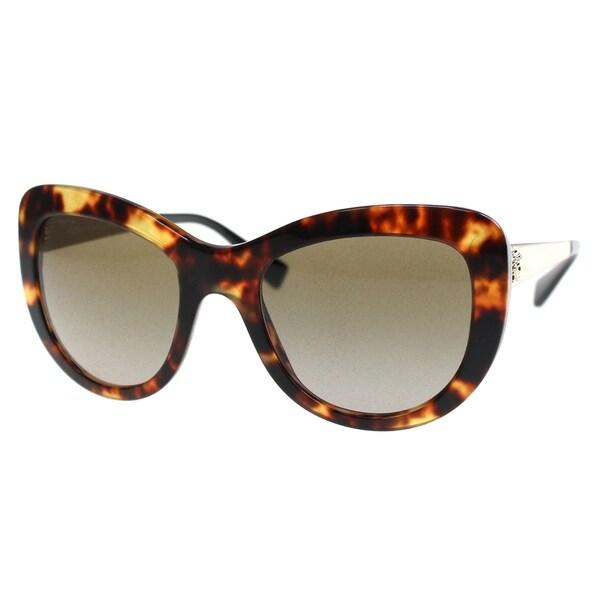 a4d26291babd Versace Women  x27 s VE4325 520813 54 Cateye Metal Plastic Brown Brown  Sunglasses
