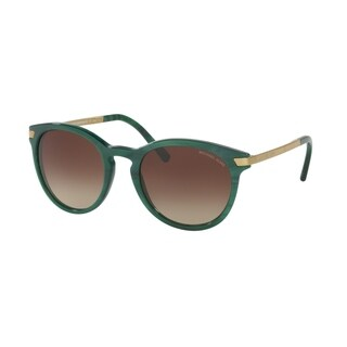 Michael Kors Women's MK2023 318813 53 Round Metal Plastic Green Smoke Sunglasses