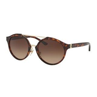 Tory Burch TY9048 Womens Havana Frame Brown Lens Round Sunglasses - Tortoise