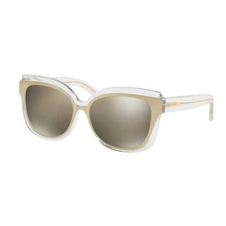 Tory Burch TY9046 Womens Gold Frame Yellow Lens Cateye Sunglasses
