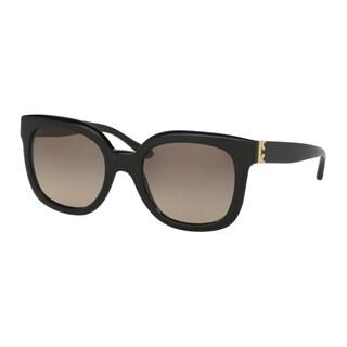 Tory Burch TY7104 Womens Black Frame Brown Lens Square Sunglasses