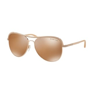 Michael Kors Women's MK1012 11072T 58 Aviator Metal Plastic Pink Yellow Sunglasses
