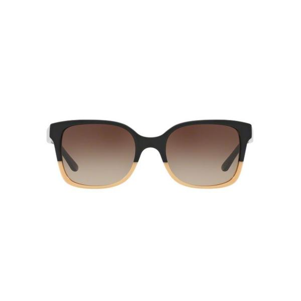 de9f4afd2 Tory Burch TY7103 Womens Black Frame Brown Lens Square Sunglasses