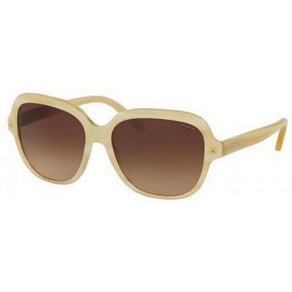 c5faeea898903 Shop Coach Women s HC8192F 542313 56 Square Plastic White Brown Sunglasses  - Free Shipping Today - Overstock.com - 14692141