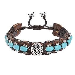 Handmade Inspirational Symbol Turquoise Rolls Leather Bracelet (Thailand)|https://ak1.ostkcdn.com/images/products/14692157/P21224715.jpg?_ostk_perf_=percv&impolicy=medium