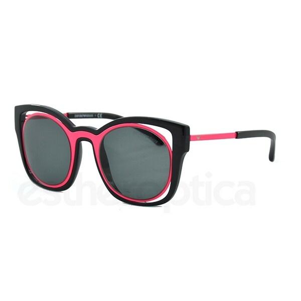 e5313b5c33bc Emporio Armani Women  x27 s EA4091 558987 50 Square Plastic Pink Grey  Sunglasses
