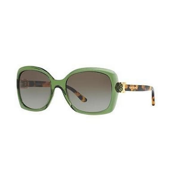 Tory Burch TY7101 Womens Green Frame Green Lens Rectangle Sunglasses