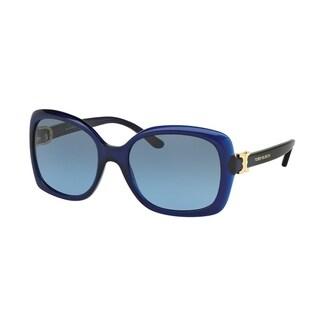 Tory Burch Women's TY7101 15658F 57 Rectangle Plastic Blue Blue Sunglasses