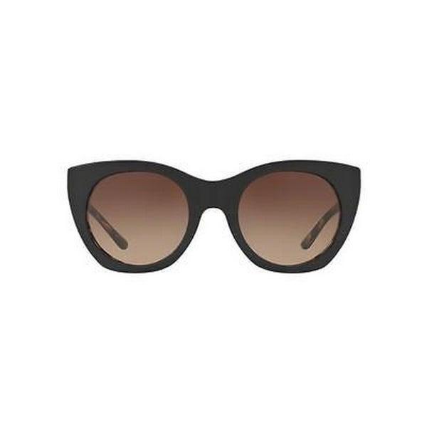 6a96c213a Tory Burch TY7097 Womens Black Frame Grey Lens Cateye Sunglasses