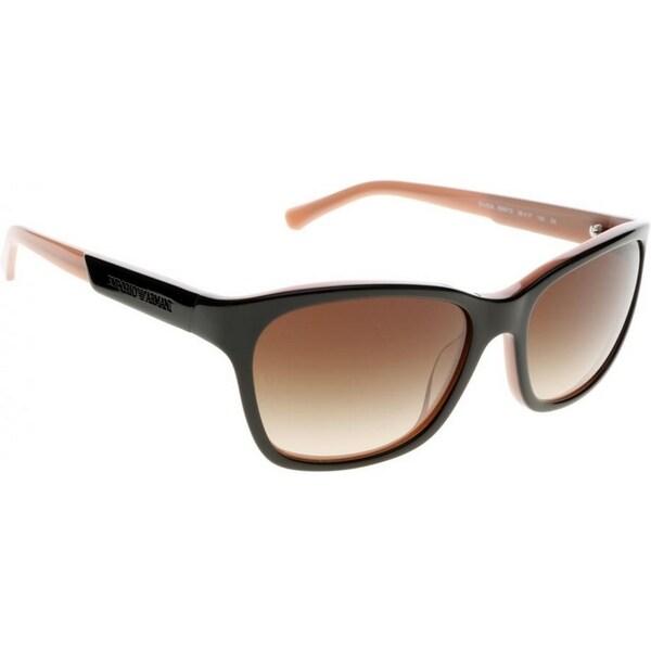 8d61351f8b9 Emporio Armani Women  x27 s EA4004 504613 56 Square Plastic Black Brown  Sunglasses