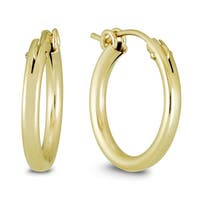 Marquee Jewels 14k Yellow Gold Filled Hoop Earrings (19 MM)