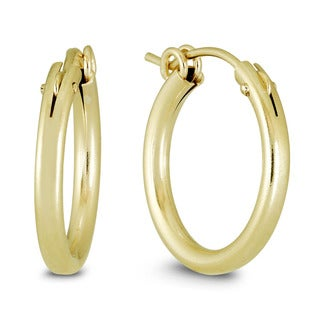 Marquee Jewels Yellow Gold Filled Hoop Earrings (19 MM)