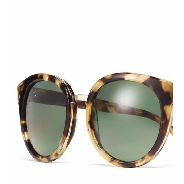 3725f60cb7 Tory Burch TY7062 Womens Havana Frame Grey Lens Round Sunglasses - Tortoise