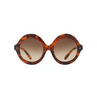 Ralph by Ralph Lauren Lauren Women's RL8141 50033B 56 Square Plastic Havana Brown Sunglasses