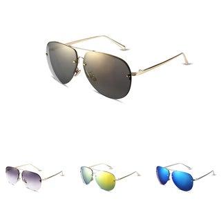 511 Clubmaster Fleck Aluminum Unisex Sleek Gradient Lens Sunglasses