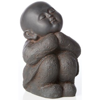 Alfresco Home Black Rust Humming Buddha