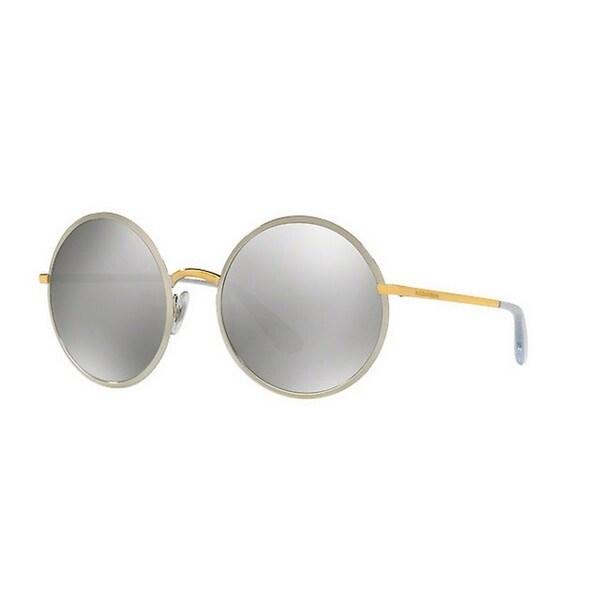 2ed45f2123e4 Dolce  amp  Gabbana Women  x27 s DG2155 13076G 56 Round Metal Plastic Grey
