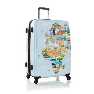 Heys Fernando FVT World Map 30-Inch Hardside Spinner Upright Suitcase