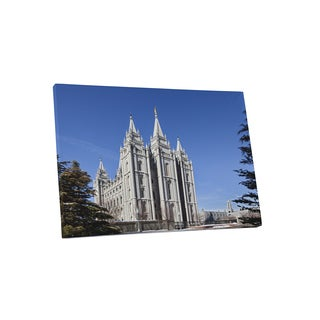 Castles and Cathedrals 'Salt Lake City Utah The Church of Christ of Latter-day Saints' Canvas Gallery-wrapped Wall Art