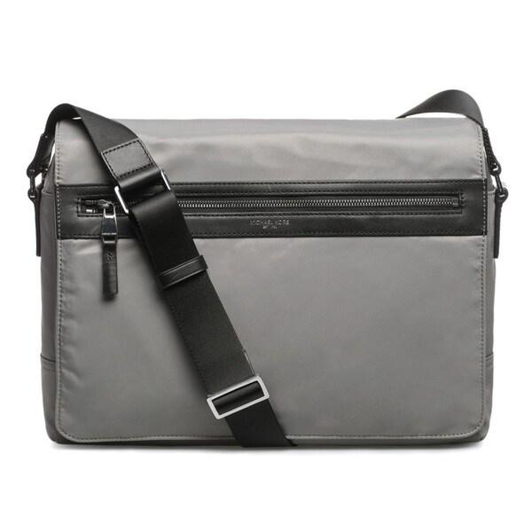 7ac3e558ab25 Shop Michael Kors Kent Nylon Large Steel Grey Messenger Bag - Free ...