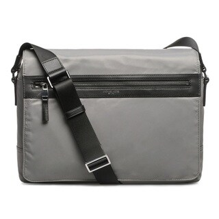 Michael Kors Kent Nylon Large Steel Grey Messenger Bag